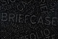 Brifecase ,Word cloud art on blackboard