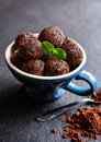 Brigadeiro - traditional Brazilian chocolate delicacy Royalty Free Stock Photo