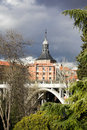 Brigde of segovia madrid this placed in the area known as de los austrias Royalty Free Stock Photography