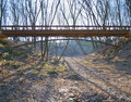 Brige in the forest yanukovych mezhigorie ukraine Royalty Free Stock Images