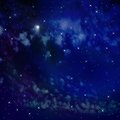 Bright abstract celestial landscape collage on the background of space Stock Photography