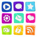 Bright, abstract, fun icon set Royalty Free Stock Photo