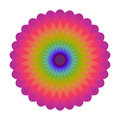 Bright abstract mosaic circle. Logo rainbow mandala. Royalty Free Stock Photo