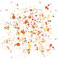 Bright abstract orange yellow cadmium splashes and drops of watercolor Royalty Free Stock Photo