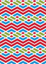 Bright abstract seamless pattern with interweave lines. Multicol Royalty Free Stock Photo