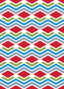 Bright abstract seamless pattern with interweave lines vector p psychedelic wallpaper stripes endless decorative background Stock Photo