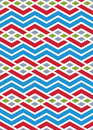 Bright abstract seamless pattern with interweave lines vector p psychedelic wallpaper stripes endless decorative background Royalty Free Stock Image