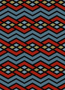 Bright abstract seamless pattern with interweave lines vector psychedelic wallpaper stripes endless decorative background Royalty Free Stock Photos