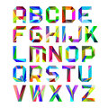 Bright alphabet letters set of illustration Royalty Free Stock Photos