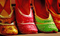 Bright Arabic shoes for ladies Royalty Free Stock Photo