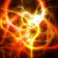 Amazing fireworks. Artistic fractal pattern Royalty Free Stock Photo