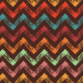 Bright background with colorful zigzag lines Royalty Free Stock Photo