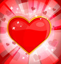 Bright background with heart vector illustration Royalty Free Stock Photography