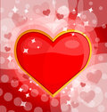 Bright background with heart vector illustration Royalty Free Stock Images