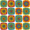 Bright background with squares and flowers for textiles interior design for book design website Royalty Free Stock Photos
