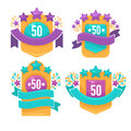 Bright badges Royalty Free Stock Photo