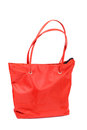 Bright bag red comfortable closeup Stock Photography