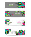 Bright banners Stock Images