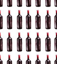 Bright beautiful abstract graphic lovely wonderful cute delicious tasty yummy summer bottles of red wine pattern