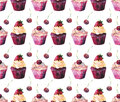 Bright beautiful tender delicious tasty chocolate yummy summer dessert cupcakes with cream red cherry and strawberry