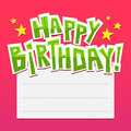Bright birthday card background with lettering and place for tex funny text Royalty Free Stock Photo