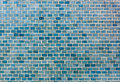 Bright blue brick wall background. Royalty Free Stock Photo