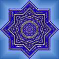 Bright blue intricate mandala Royalty Free Stock Photo