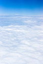 Bright blue sky above the clouds with white Stock Photo