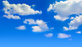 Bright blue sky with clouds Royalty Free Stock Photo