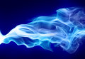 Bright blue smoke Royalty Free Stock Photo