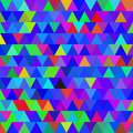 Bright blue vector seamless pattern with triangles. Abstract background.