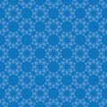 Bright blue vector seamless pattern with vintage ornament Royalty Free Stock Photo