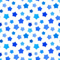 Bright blue watercolor stars background can be copied without any seams hand drawing vector illustration painted shapes design Royalty Free Stock Photos