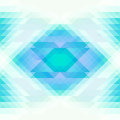 Bright blue and white triangles and rhombus abstract seamless background. Repeating geometric pattern. Vector