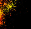 Bright border of firework sparks Stock Photography