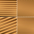 Bright brown vector backgrounds with parallel lines Royalty Free Stock Photo