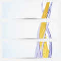 Bright business cards collection golden line the theme clip art Stock Photos