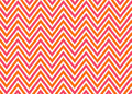 Bright chevron red, orange and white pattern Stock Photography