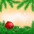 Bright christmas background of fir branches vector graphics Royalty Free Stock Photography