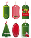 Bright Christmas tags. Royalty Free Stock Photo