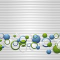 Bright circles on the grey striped backdrop vector eps Stock Photos
