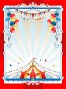 Bright circus frame Stock Image