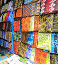 Bright cloth for sale at the market Royalty Free Stock Image