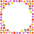 Bright color flower frame illustration Stock Photography