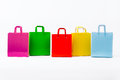 Bright colored shopping bags Royalty Free Stock Photo