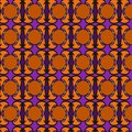 Bright and colorful abstract floral geometric pattern, background, vector seamless