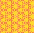 Bright colorful abstract geometric seamless pattern. Coral and yellow color
