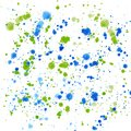 Bright colorful cute beautiful abstract navy blue indigo green splashes and drops of watercolor hand illustration Royalty Free Stock Photo