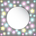 Bright colorful glowing star lights on transparent background.  Vector design for Holiday cards, valentine`s day Royalty Free Stock Photo