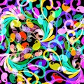 Bright colorful Paisley vector seamless pattern. Abstract orname